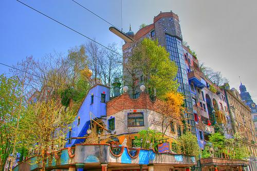 Hundertwasser Haus. Museen berühmter Österreicher.