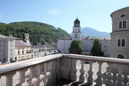 Blick vom Balkon während des Rundgangs. (c) Domquartier