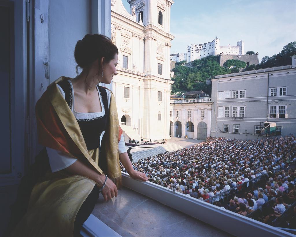 Jedermann Aufführung - Blick auf Domplatz. (c) SalzburgerLand