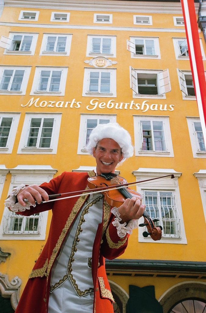 Salzburg: the house in which Wolfgang Amadeus Mozart was born on the January 27, 1756