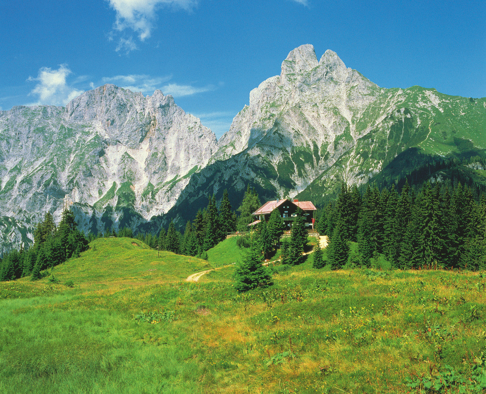Mödlinger Hütte im Gesäuse bei Johnsbach in der Steiermark im Nationalpark Gesäuse © Österreich Werbung, Fotograf: Jezierzanski