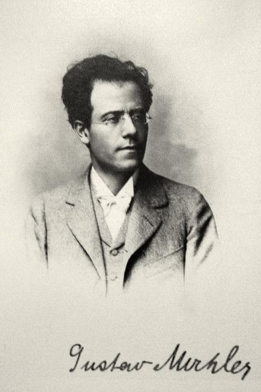 Gustav Mahler / Foto-Portrait mit Signatur © Österreich Werbung, Fotograf: Diejun